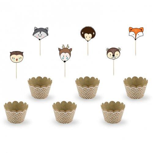 Kit 6 Cupcakes Bois Joli