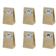 6 Mini Pochettes Cadeaux Bois Joli (12,5 cm)