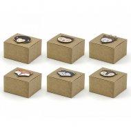 6 Mini Boîtes Cadeaux Bois Joli (5,5 cm)