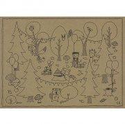 6 Sets à Colorier Animaux Bois Joli (38 cm)