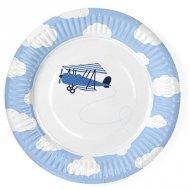 6 Petites Assiettes Baby Plane