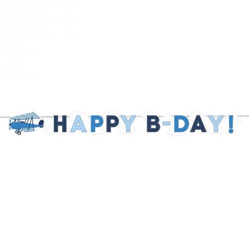 Guirlande Happy B-Day Baby Ciel (1,73 m)