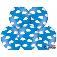 6 Ballons Nuages Baby Ciel - Bleu
