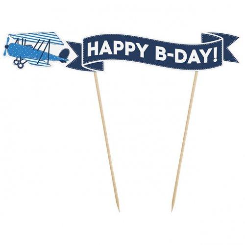 Déco Gâteau Happy B-Day Baby Ciel