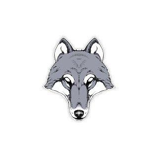 1 Masque Loup - Carton