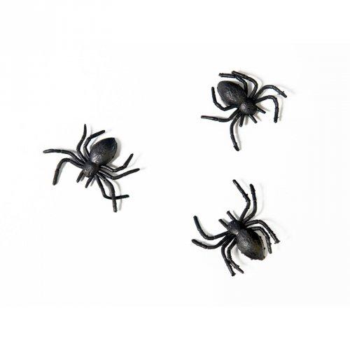 10 Araignée Plastique (3 cm)