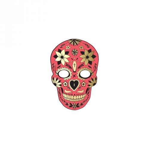 Masque déco Calavera Rouge - Carton