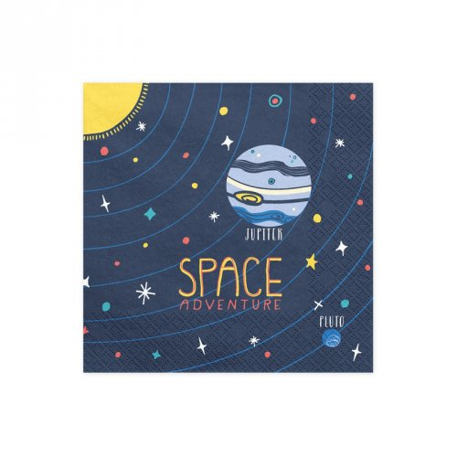 20 Serviettes Space Party