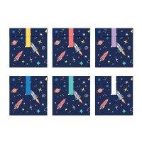 Contient : 1 x 6 Pochettes Cadeaux Space Party (16 cm) - Papier