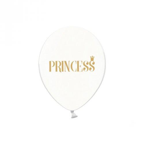 6 Ballons Princess Or
