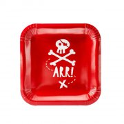 6 Assiettes Pirate Le Rouge
