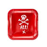 Contient : 1 x 6 Assiettes Pirate Le Rouge