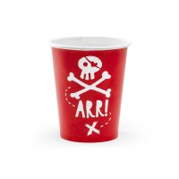 Contient : 1 x 6 Gobelets Pirate Le Rouge
