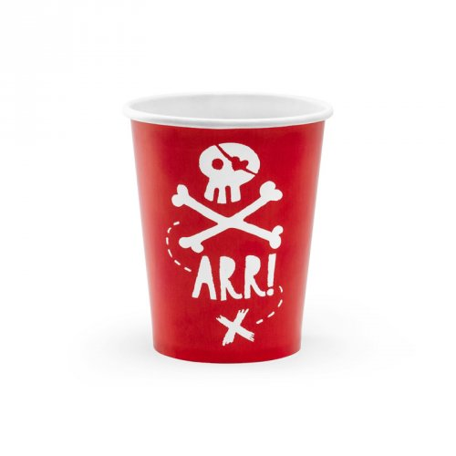 6 Gobelets Pirate Le Rouge