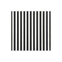 Contient : 1 x 20 Serviettes Rayées Noir/Blanc - Pirate Le Rouge