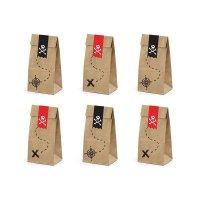 Contient : 1 x 6 Pochettes Cadeaux Pirate Le Rouge (18 cm) - Kraft