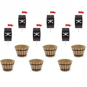 Kit 6 Cupcakes Pirate Le Rouge