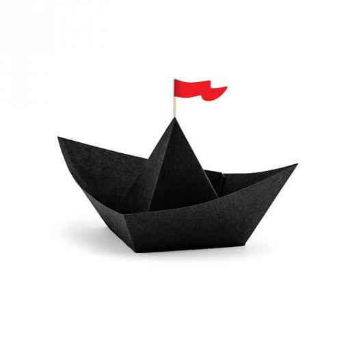 6 Déco Bateau Pirate Le Rouge (14 cm) - Papier