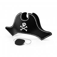 Chapeau + Cache oeil Pirate - Carton
