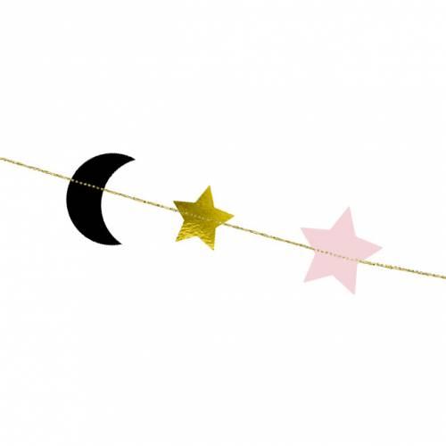 Guirlande Etoile et Lune - 1,90m