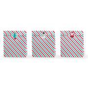 3 Pochettes Cadeaux Noël + Stickers