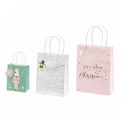 3 Sacs Cadeaux Noël - Papier