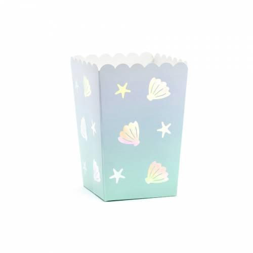 6 Boîtes à Popcorn Coquillage Océan Iridescent