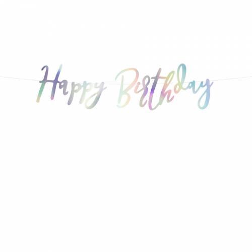 Guirlande Happy Birthday Iridescent