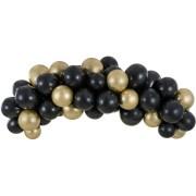 Kit Arche de 60 Ballons - Noir/Or