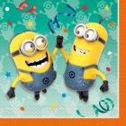 16 Serviettes Minions Party