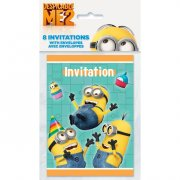 8 Invitations Minions Party