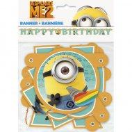 Guirlande lettres Happy Birthday Minions Party