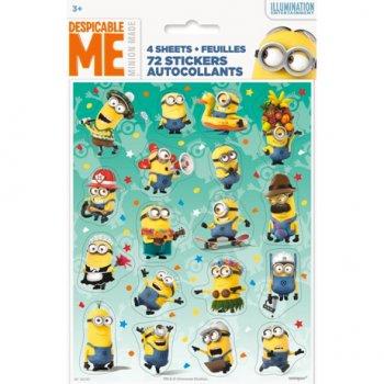 72 Stickers Minions