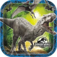 Contient : 1 x 8 Assiettes Jurassic World