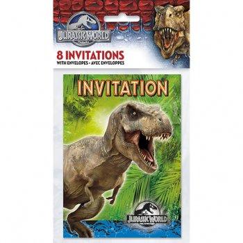 8 Invitations Jurassic World