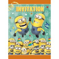 8 Invitations Minions Birthday