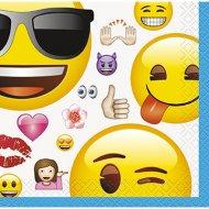 16 Petites Serviettes Emoji Fun