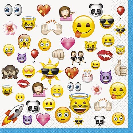16 Serviettes Emoji Fun