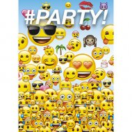 8 Invitations Emoji Fun Party