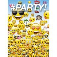 8 Invitations Emoji Fun Party
