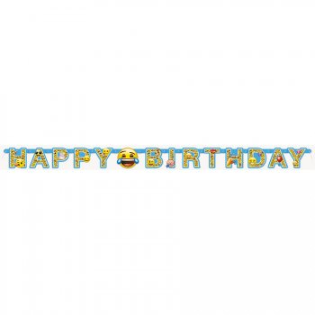 Guirlande Happy Birthday Emoji Fun