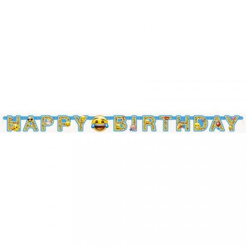 Guirlande Happy Birthday Emoji Fun