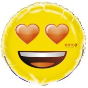 Ballon Hélium Emoji Love