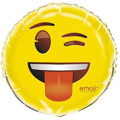 Ballon Gonflé à l Hélium Emoji Clin d oeil