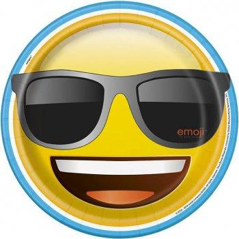 8 Assiettes Emoji Fun