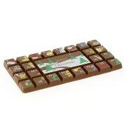 Tablette Calendrier de l'Avent en Chocolat décoré