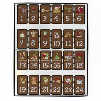 Calendrier Dominos de l Avent en Chocolat décoré