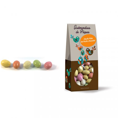 Ballotin Mini Oeufs Pâte de fruits Chocolat - 180g