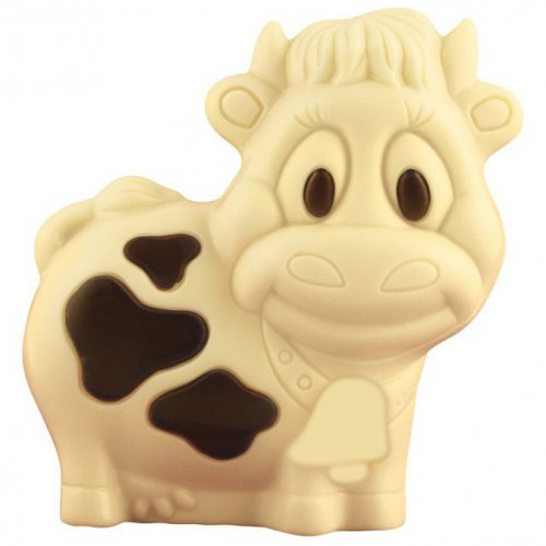 1 Mini Vache 3D Chocolat Blanc - 10 g
