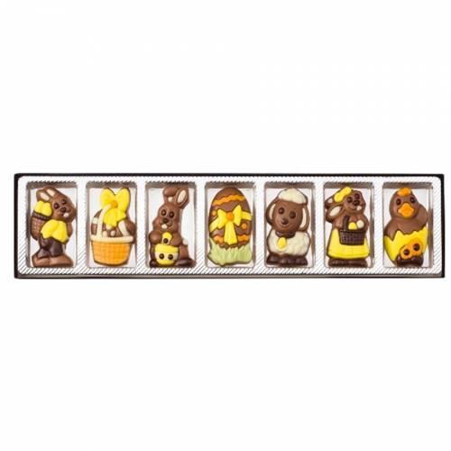 Coffret 7 Motifs de Pâques en Chocolat - 70 g